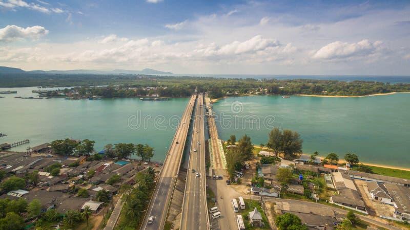 Download FlygfotograferingSarasin Bro Phuket Arkivfoto - Bild av bricked, bygger: 106835888