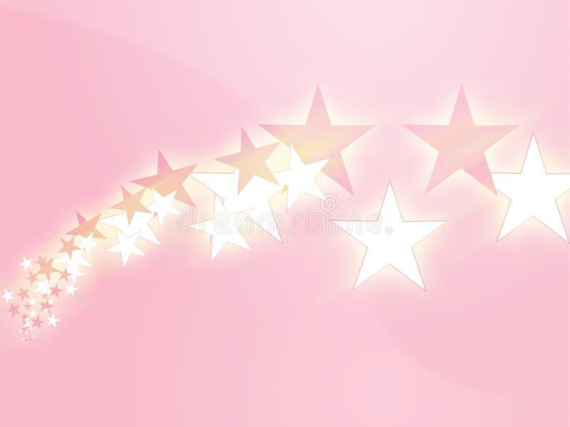 flygillustrationstjärnor royaltyfri illustrationer