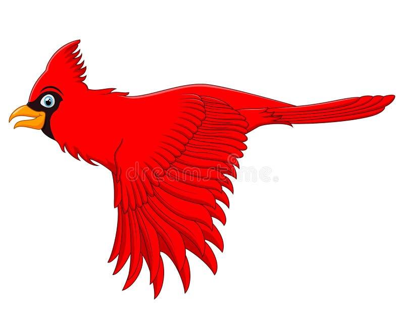 Flygkardinalfågel vektor illustrationer