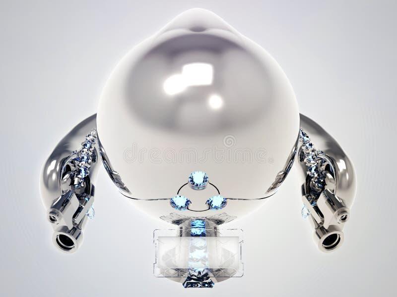 Flygleksakrobot med rostfritt stålharnesk arkivbild