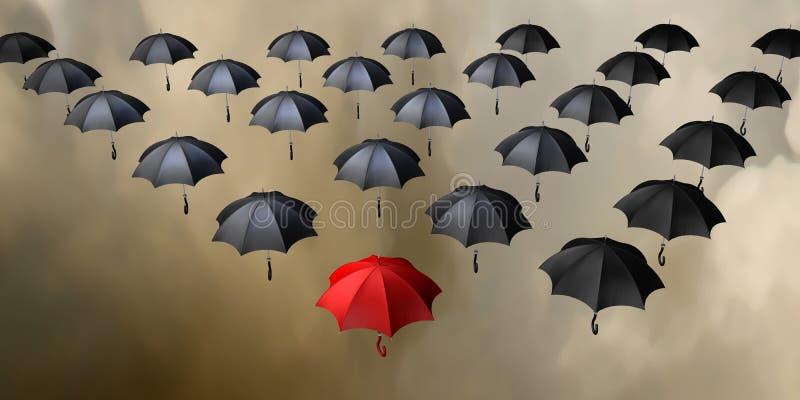 flygparaplyer stock illustrationer