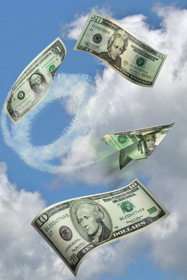 flygpengar royaltyfri fotografi