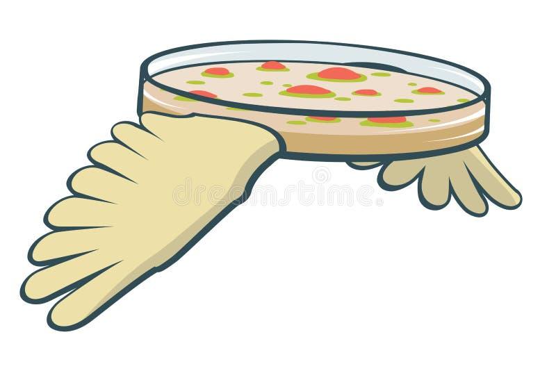 Flygpetri maträtt stock illustrationer