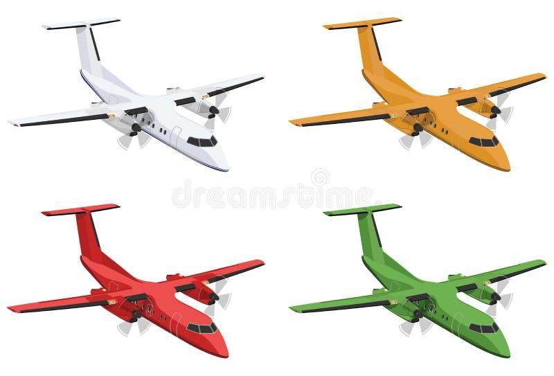 flygplan royaltyfri illustrationer