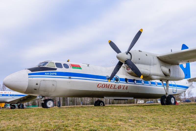 Flygplan An-24 royaltyfria foton