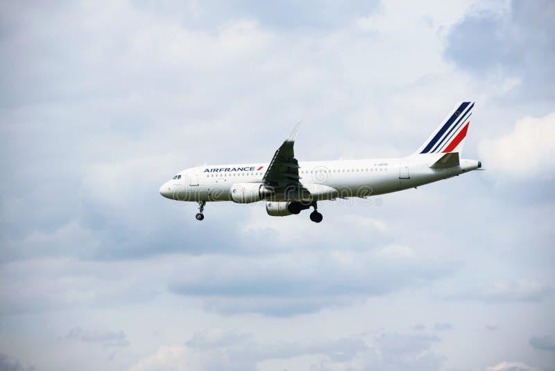 Flygplan av AIR FRANCE royaltyfri fotografi