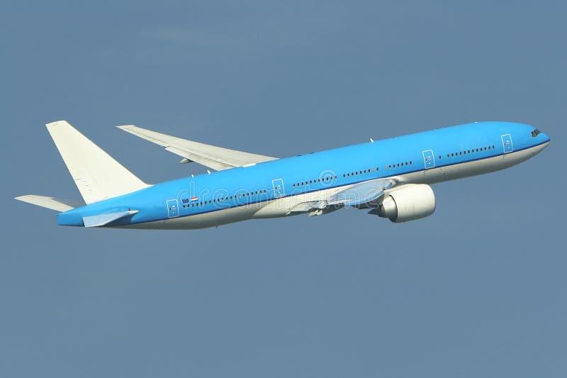 flygplan av att ta royaltyfria bilder