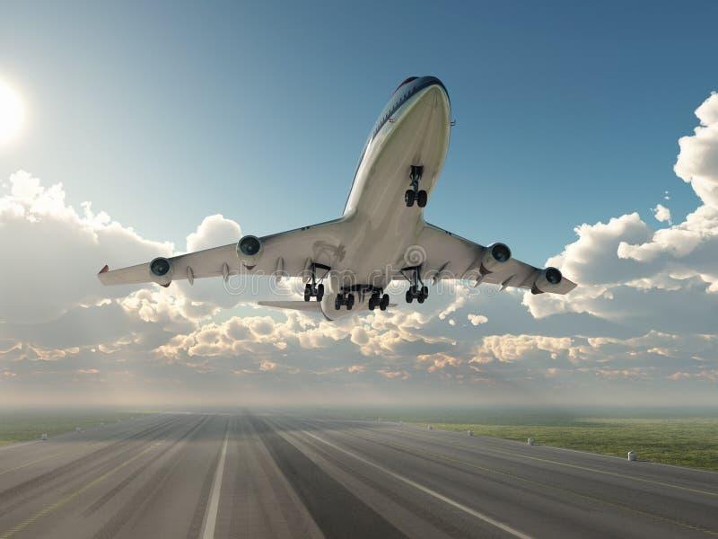 flygplan av att ta royaltyfri illustrationer