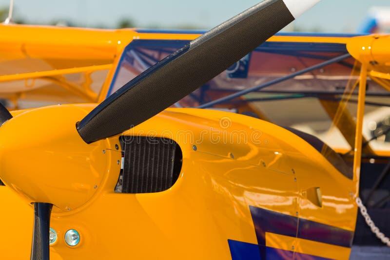 Flygplan för enkel motor arkivfoto