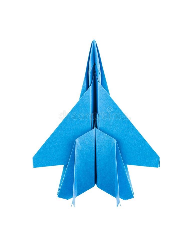 Flygplan för origami F-15 Eagle Jet Fighter arkivfoto