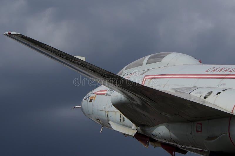 Flygplan för voodoo för McDonnell CF 101 fotografering för bildbyråer