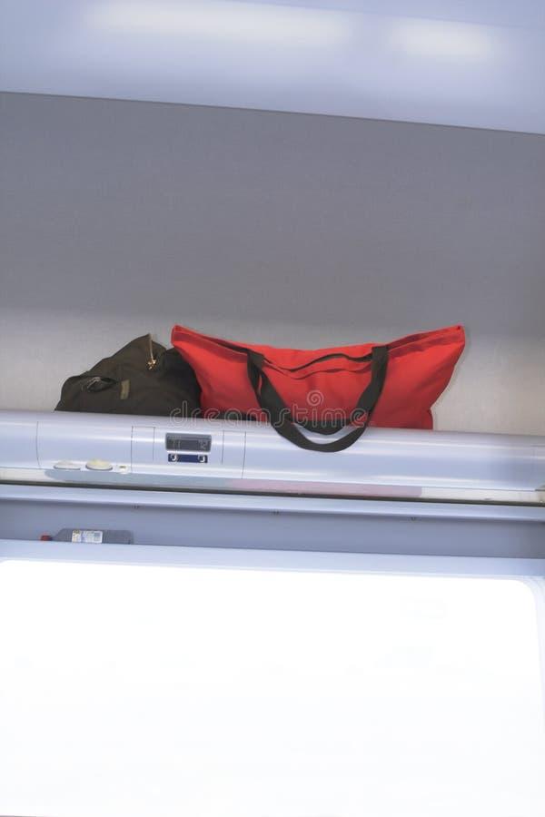 flygplan inom luggages arkivfoton