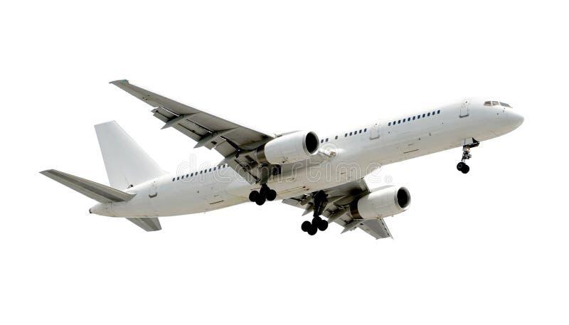 flygplan isolerad stråle arkivbild