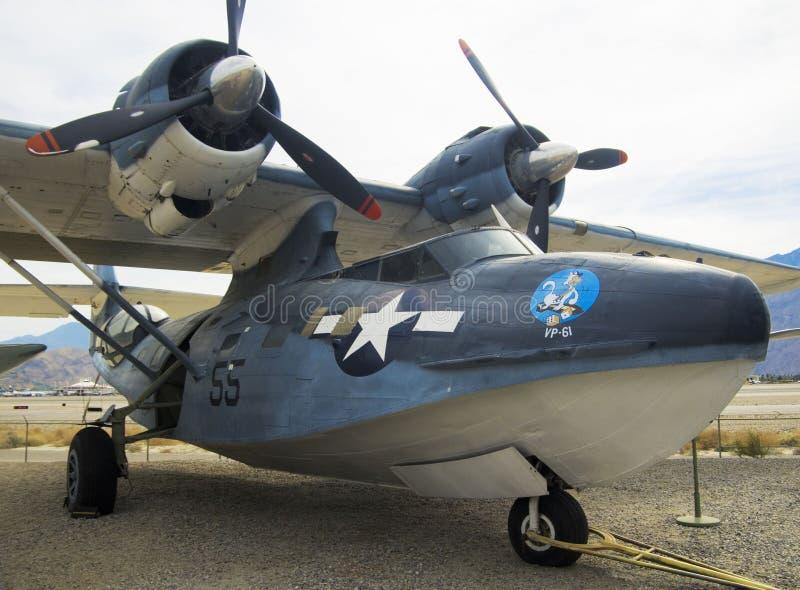 Flygplan konsoliderad PBY Catalina royaltyfria foton