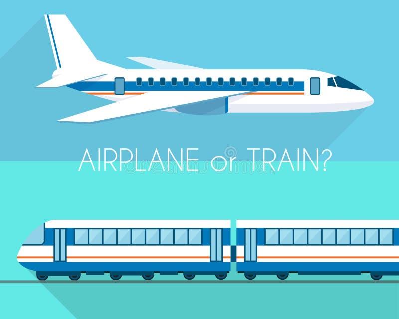 Flygplan och drev stock illustrationer