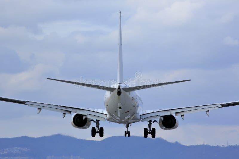 Flygplan och himmel i Japan royaltyfri fotografi