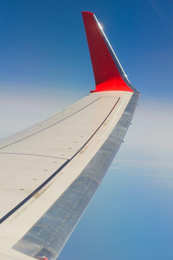 Flygplan påskyndar arkivfoto