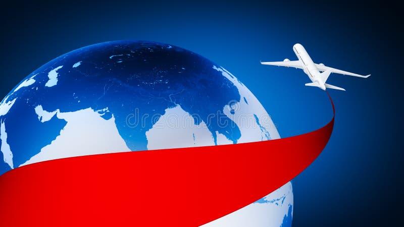 flygplan runt om jord vektor illustrationer