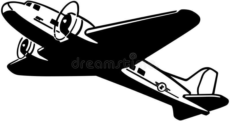 Flygplan som tar flyg stock illustrationer