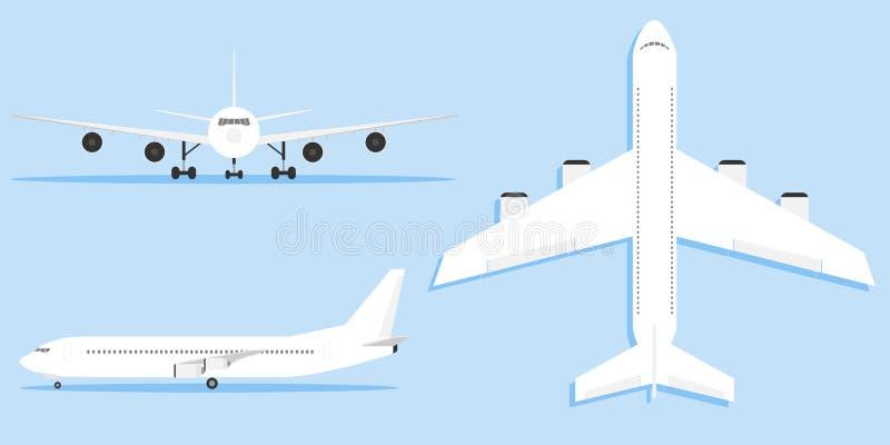 Flygplan flygplan, trafikflygplan i olika variationer royaltyfri illustrationer