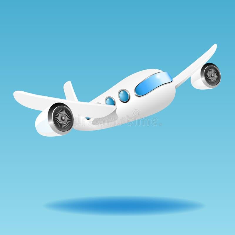 Flygplan. Vektorillustration royaltyfri illustrationer