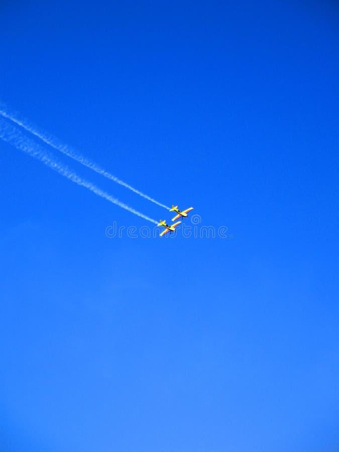 Flygplanakrobater arkivfoto