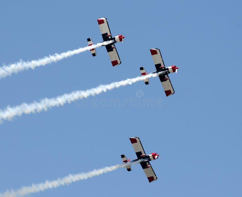 flygplanbildandepropeller arkivfoton