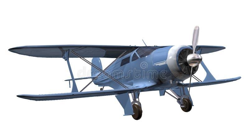 Flygplanbiplane royaltyfria foton