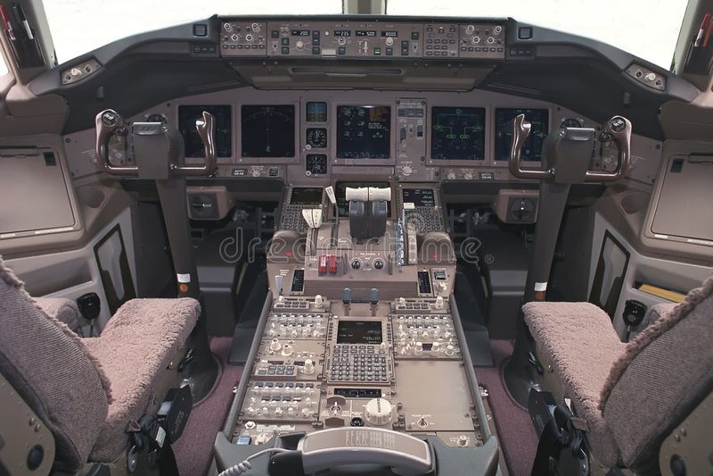 flygplandäcksflyg arkivbild