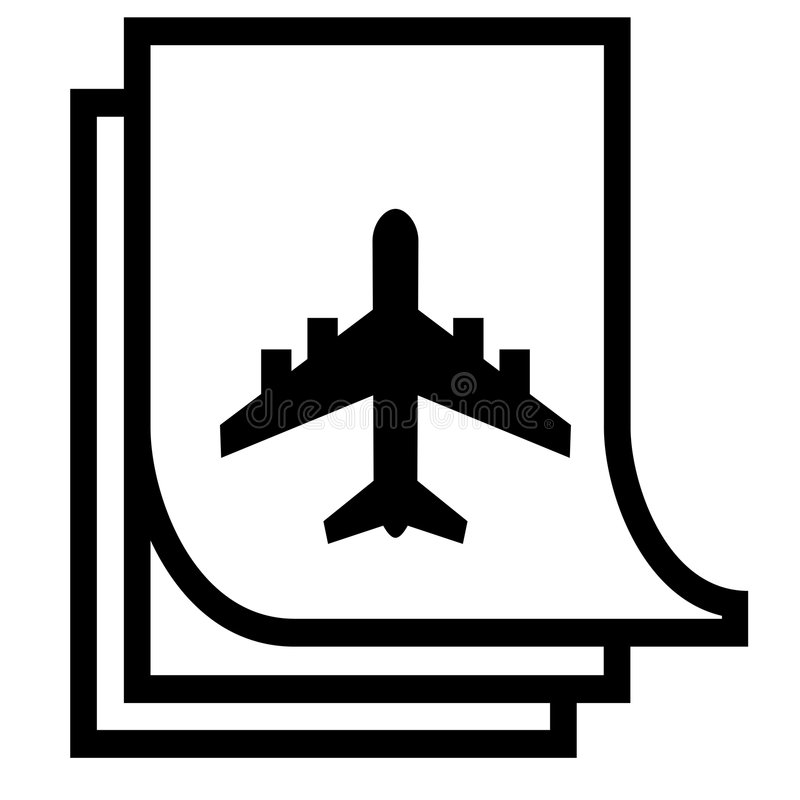 flygplandatorillustration royaltyfri bild