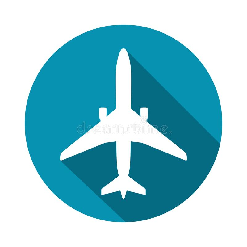Flygplanet undertecknar in cirkeln stock illustrationer