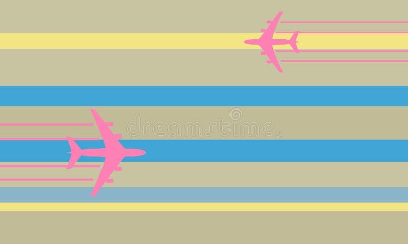 flygplanflygillustration vektor illustrationer