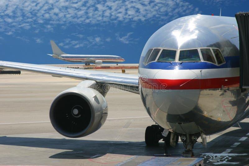 flygplanflygplats fotografering för bildbyråer
