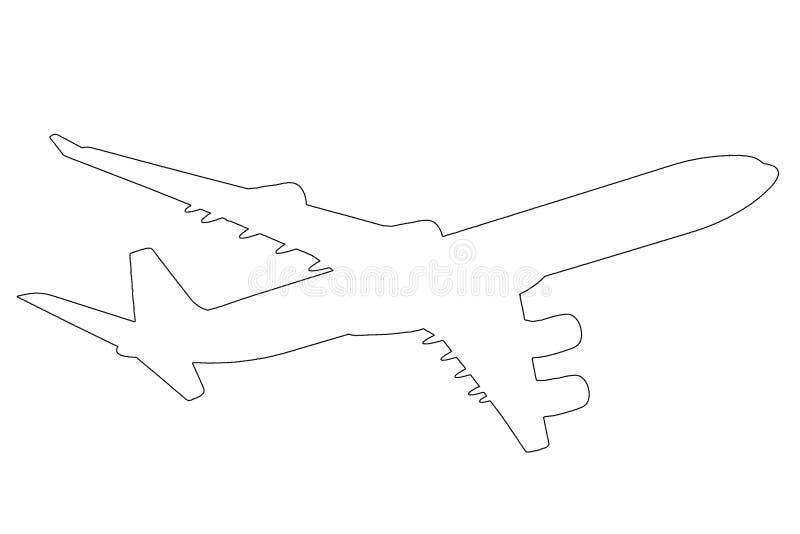 flygplanillustrationöversikt vektor illustrationer
