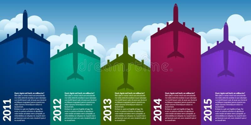 Flygplaninfograph royaltyfri illustrationer