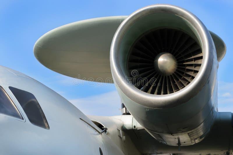Flygplanjetmotor arkivfoton