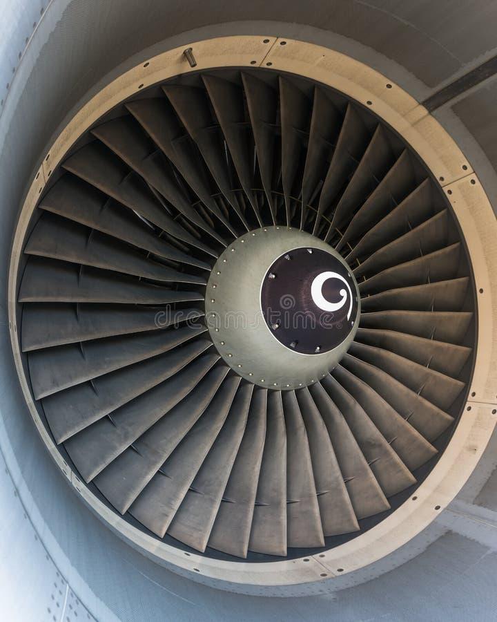 Flygplanjetmotorn specificerar royaltyfri fotografi