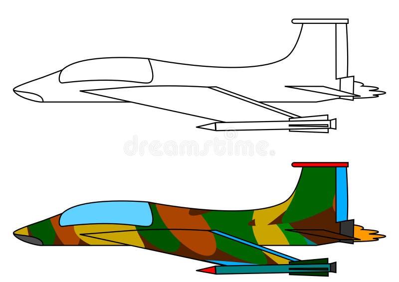 flygplankämpemilitär vektor illustrationer
