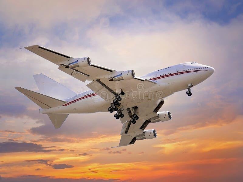 Flygplanlandning arkivfoton