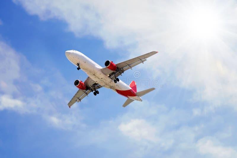 Flygplanlandning arkivbilder