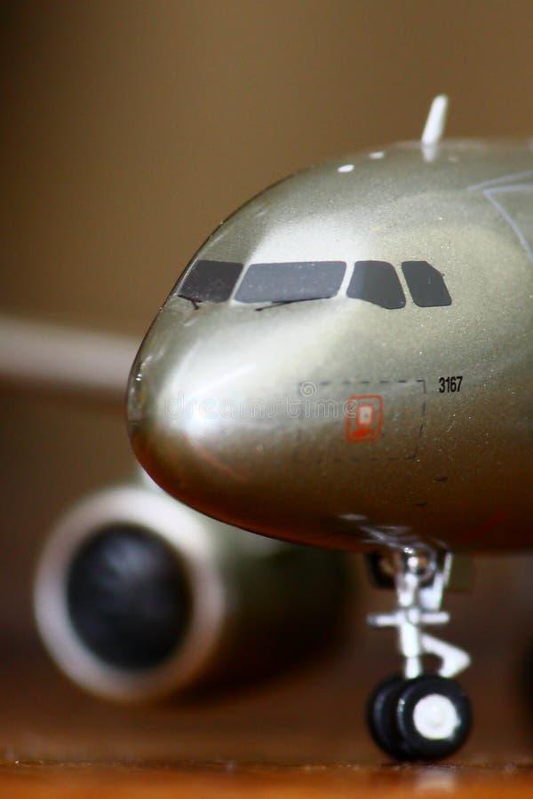 flygplanmakromodell royaltyfria foton