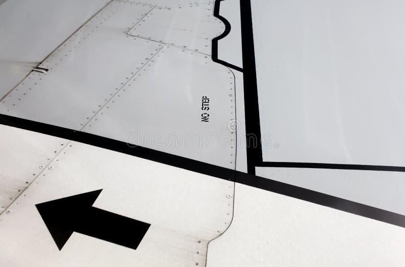 flygplanmarkeringsvinge arkivbilder