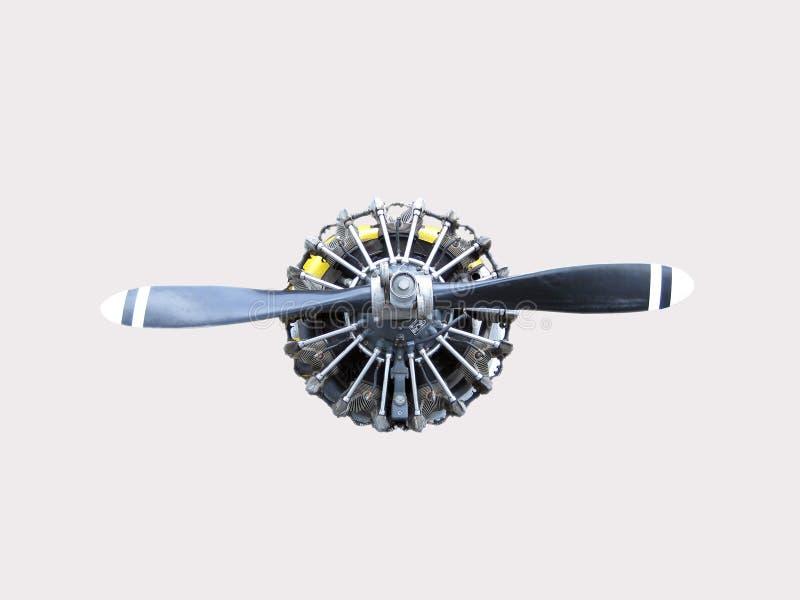 flygplanmotorpropeller royaltyfri fotografi