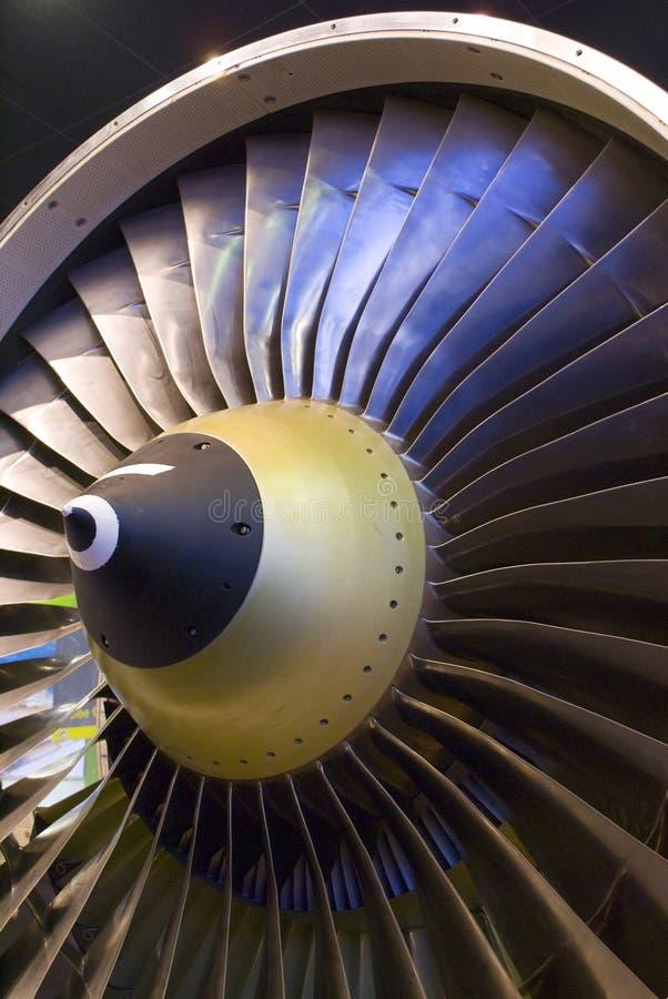 flygplanmotorventilator arkivfoton