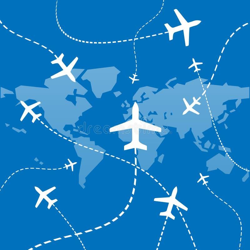 flygplannätverk stock illustrationer