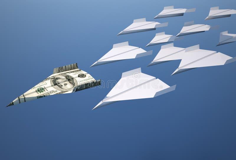 flygplanpapper stock illustrationer