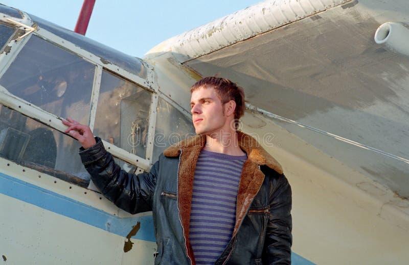 flygplanpilot royaltyfri fotografi