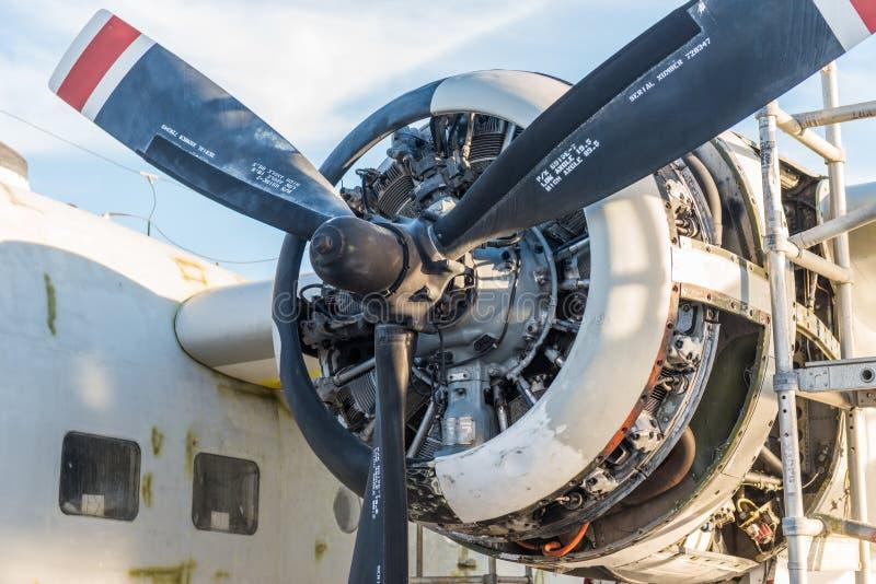 Flygplanpropeller fotografering för bildbyråer