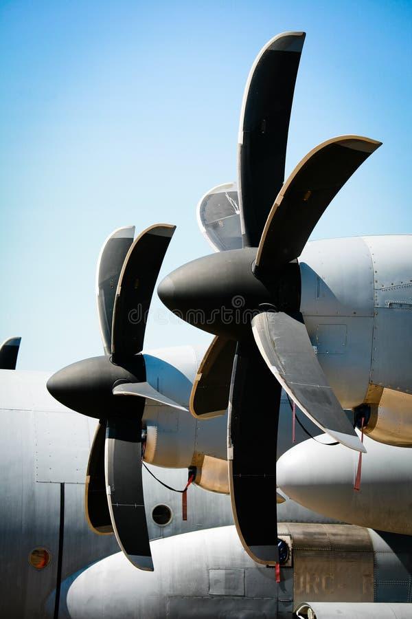 flygplanpropellertappning arkivfoto
