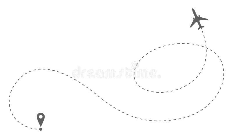 Flygplanrutt Trevel begrepp royaltyfri illustrationer